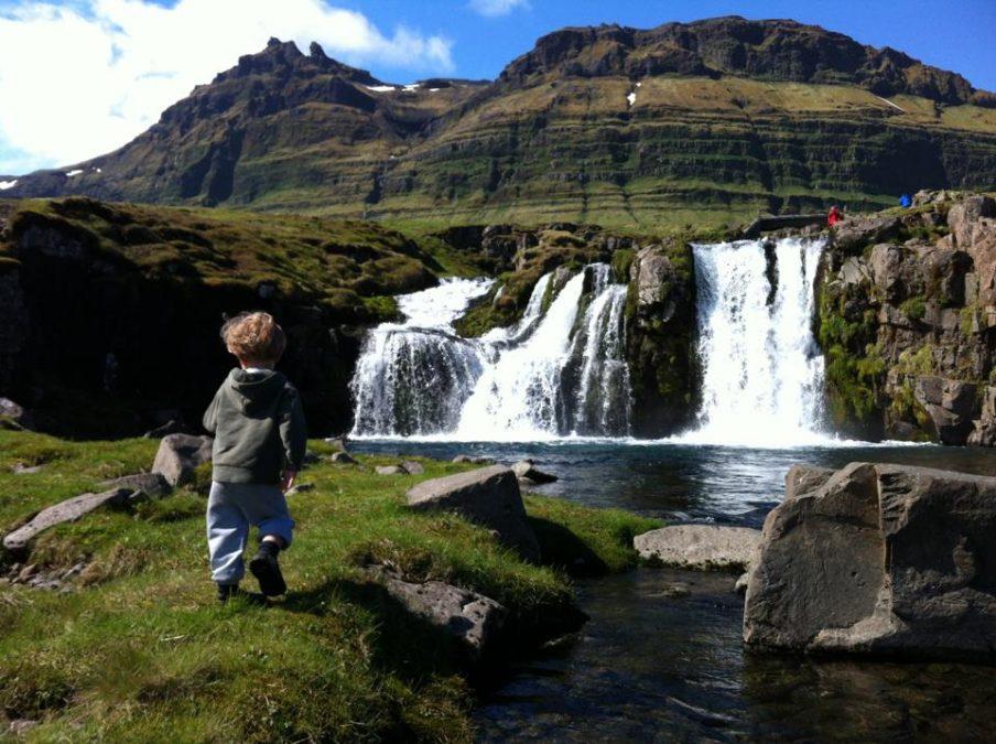 Risk assessment - boy running into waterfall
