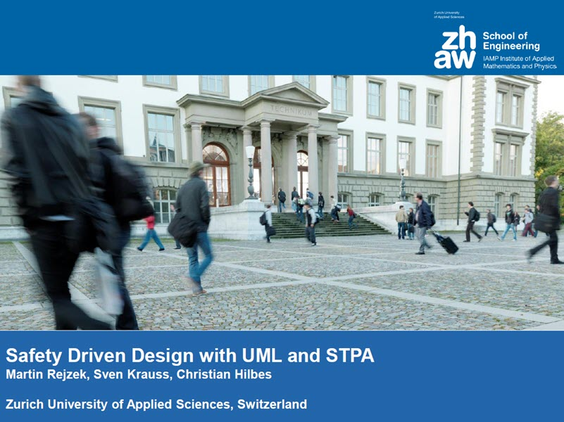 Safety Driven Design with UML and STPA presentation
