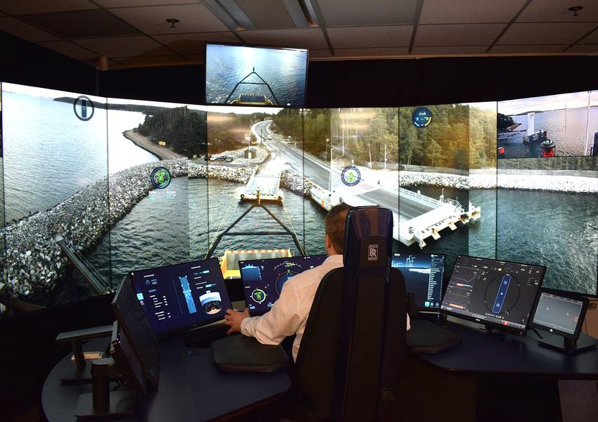 Autonomous ferry Captain's virtual control room